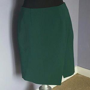 White House Black Market Straight Skirt Sz 10 Slit